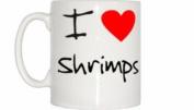 I Love Heart Shrimps Mug