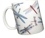 Dragonfly Wrap 330ml Ceramic Coffee Mug