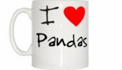 I Love Heart Pandas Mug
