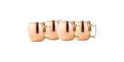 Old Dutch 60ml Solid Copper Moscow Mule Shot Mug, Set of 4