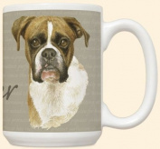 David Kiphuth Dog Breed 440ml Coffee Mug Cup ~ Boxer