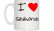 I Love Heart Seahorses Mug