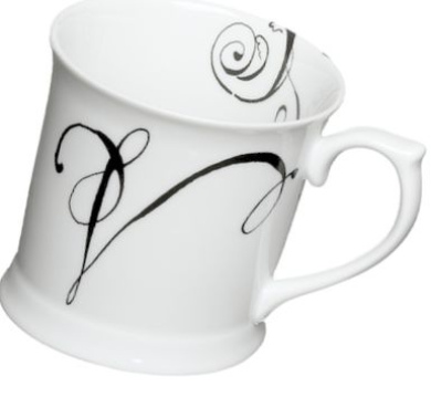 Rosanna Initially Yours Mug Letter V