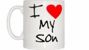 I Love Heart My Son Mug