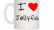 I Love Heart Jellyfish Mug