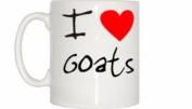 I Love Heart Goats Mug
