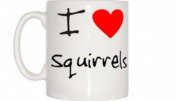 I Love Heart Squirrels Mug