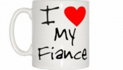 I Love Heart My Fiance Mug