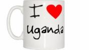 I Love Heart Uganda Mug