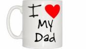 I Love Heart My Dad Mug
