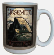 TreeFree Greetings 79476 Yosemite National Park Half Dome by Paul A. Lanquist Ceramic Mug with Full-Sized Handle, 440ml, Multicoloured