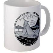 RHODE ISLAND RI State Quarter Proof Mint Image 330ml Ceramic Coffee Mug