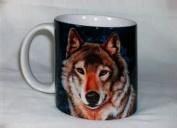 Lone Wolf 330ml Ceramic Coffee Mug