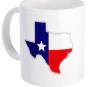 Show Love for TEXAS US State Flag 330ml Ceramic Coffee Cup Mug
