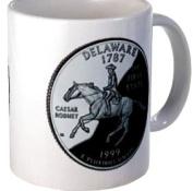 DELAWARE DE State Quarter Proof Mint Image 330ml Ceramic Coffee Mug