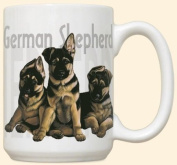German Shepherd Puppy Puppies Large 440ml Ceramic Mug
