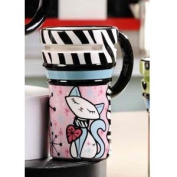 Retroflection Ceramic Cat Travel Mug by Giftcraft