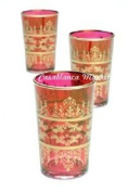 Moroccan Tea Glasses Red Tunis
