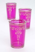 Moroccan Tea Glasses Morjana Pink