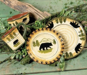 Black Bear Forest Dinnerware Set - 16 pcs