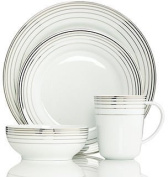 Charter Club Dinnerware By Macy's, Infinity Platinum 4 Piece Round Place Setting