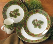 Pinecone Dinnerware 16 Piece Set by Persis Clayton Weirs