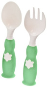 ZoLi Fork and Spoon Set, Green