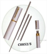 One Pair Stainless Steel Portable Travel Chopstick 8034