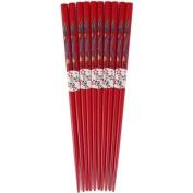 Red Finish Blue Dragon Chopsticks, Set of 5
