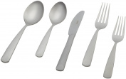 "Herdmar ""Perugia"" 18/10 Stainless Steel 5-Piece Placesetting, with Satin Finish"
