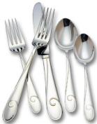 Waterford Ballet Ribbon 18/10 Stainless Steel 5-Piece Place Setting, Service for 1