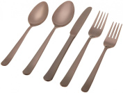 "Herdmar ""Oslo Chocolate"" 18/10 Stainless Steel 5-Piece Place Setting"