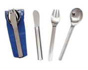 Stansport Durable, Rust Proof Stainless Steel Deluxe Knife, Fork & Spoon Set