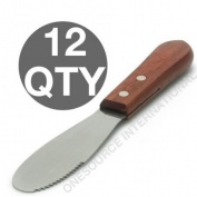 DOZEN COMMERCIAL SANDWICH SPREADER / BUTTER KNIFE - 11.4lY