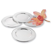 Silver-plated Set of Four Trays