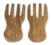 Berard 01091 French Olive-Wood Handcrafted Curved Salad Servers