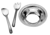 Wilton Armetale Flutes and Pearls 3-Piece Salad Set, Large