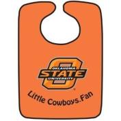 Oklahoma State 2-Tone Snap Baby Bib