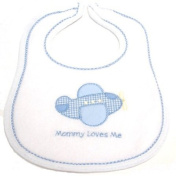 "Dressed to Drool Boy ""Mommy Loves Me"" Bib"