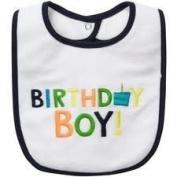 Carter's Birthday Boy Bib White Navy