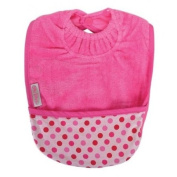 Silly Billyz Towel Pocket Bib, Fuchsia 3 mos - 3 Yrs