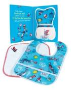 Bumkins Baby Gift Set - Bib/Washcloth - Dr. Seuss Cat In The Hat