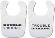 *Twin Baby bibs* 'Double Trouble' bibs