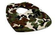 Caught Ya Lookin' Reversible Baby Bib, Camouflage, Brown/Tan/Black/Green
