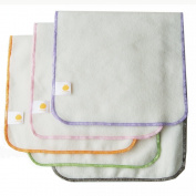 Satsuma Designs 5 Pack Organic Flannel Burp Cloth