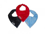 Boy Bandana Bibs 3 Pack in Navy / Sky Blue / Red