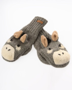 DeLux Donkey Grey Wool Animal Mittens - Limited Edition