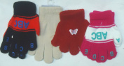 Ck1.024, Set of Four Pairs One Size Stretch Magic Gloves for Children Ages 1-4 Years
