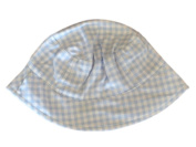 Faded Glory Infant & Toddler Boys Blue & White Checked Bucket Hat Floppy Sun Cap