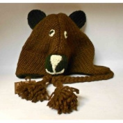 Handmade Knitted Bear Hat for Kids size 3-5 years